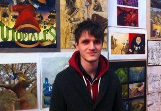 Marc, étudiant en formation illustration à l'école d'arts appliqués Pivaut Nantes