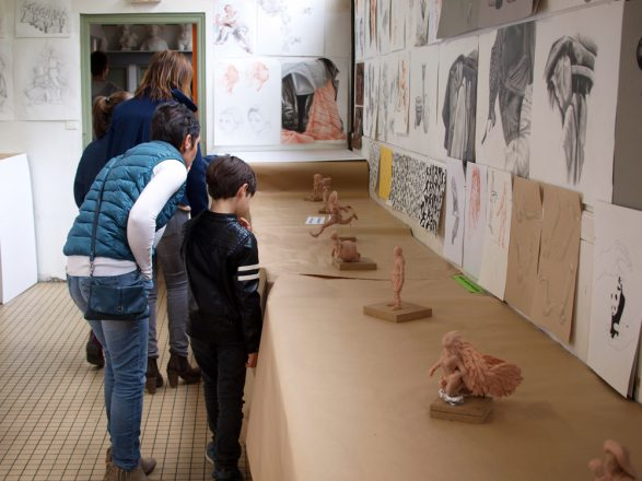 expo des étudiants en arts appliqués